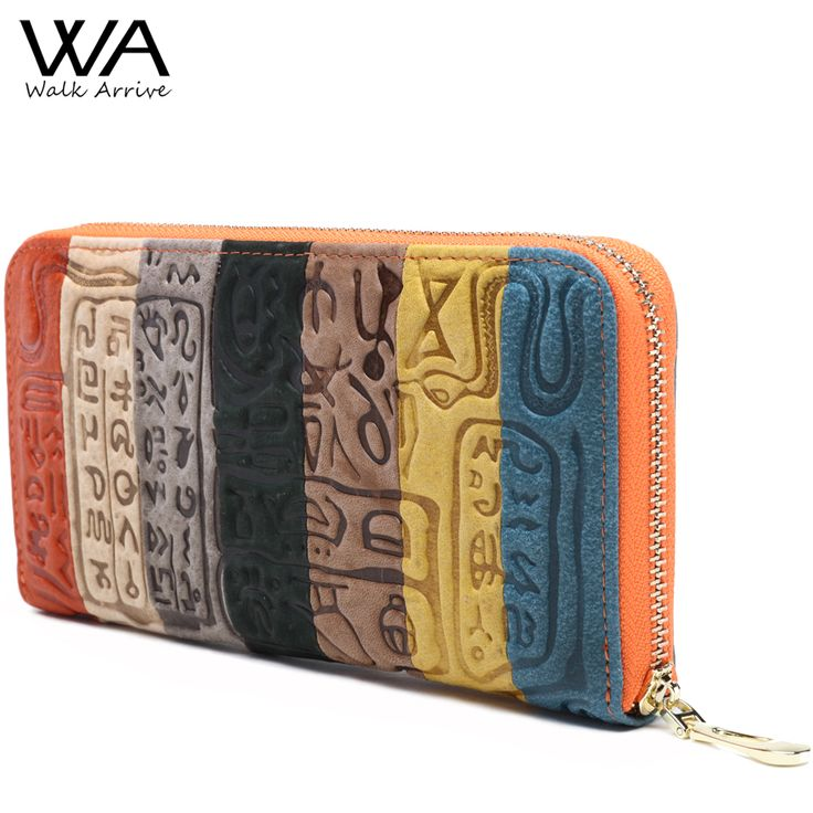 Walk Arrive Genuine Leather Women Wallet Embossed Leather Purse Brand Design Clutch Wallet  Money Bag Fashion Coins Holder #wallet #clutch #purse