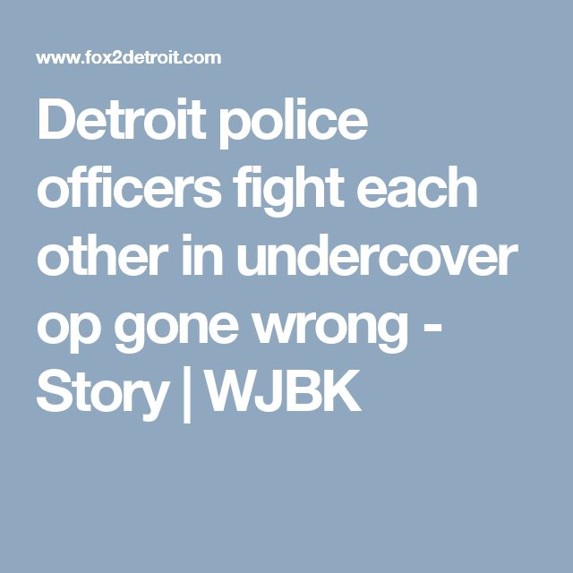 Detroit police officers fight each other in undercover op gone wrong - Story | WJBK