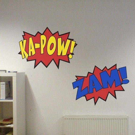 Love these wall decals for a kid's room or nursery!  (or man's office!)  WilsonGraphics on etsy