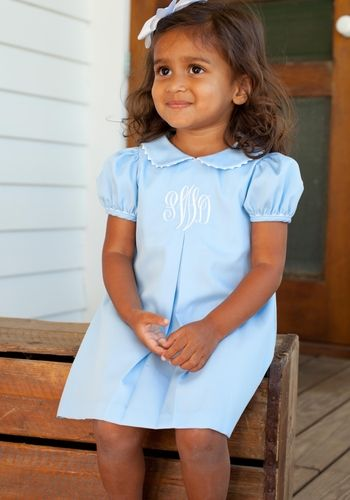 Blue Pique Apron Dress