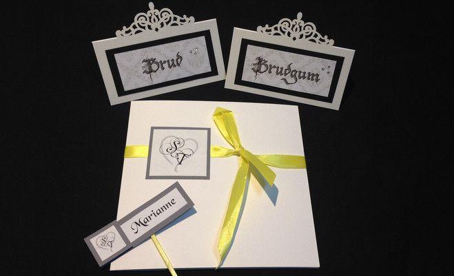 Kolla in dessa exempel på #inbjudningskort, #placeringskort och #bröllopsprogram →  https://www.trohoppochkarlek.se/karlek/inbjudningskort-placeringskort-program #bröllop