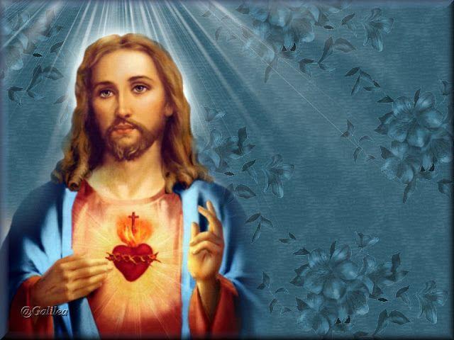 SAGRADOS CORAZONES DE JESÚS Y MARÍA : ORACIÓN ANTE UNA IMAGEN DEL SAGRADO CORAZÓN DE JES...