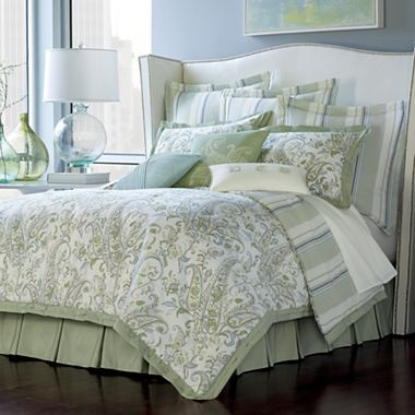 Pattern combo inspy: Pale paisley & stripes - Cindy Crawford Style Laguna Paisley Bedding & More - (no longer avail at jcp)