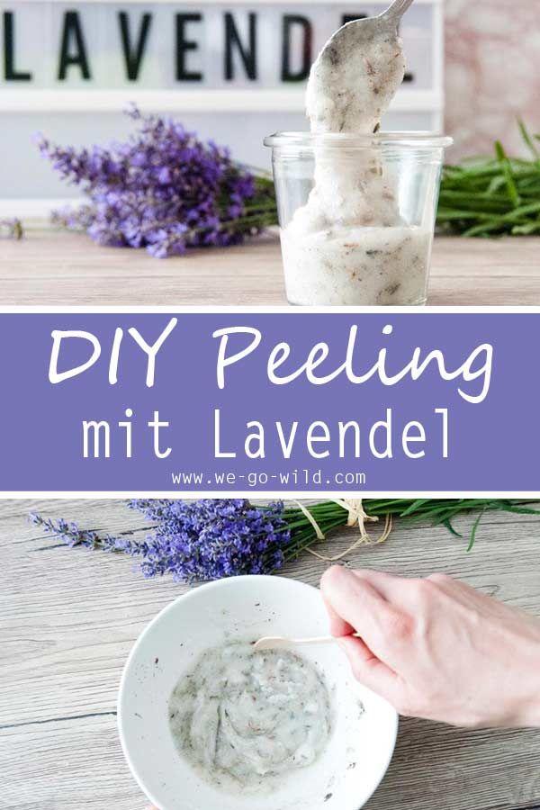 Lavendel Peeling mit Kokosöl für trockene Haut