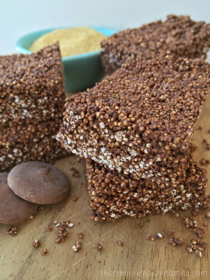Mexican Chocolate #Amaranth Bar #recipe using #WiltonCandyMelts on theothersideofthetortilla.com
