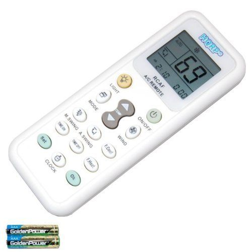HQRP Universal AC Remote Control for RIJIANG ROWA SACON SAMSUNG SANYO NEC SANZUAN SAPORO SAST SENSOR SANKEY Air Conditioner  Fahrenheit displaying plus HQRP Coaster Model >>> More info could be found at the image url.