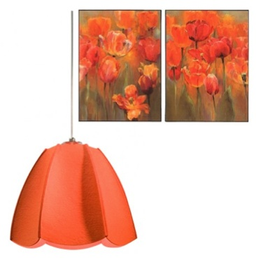 Orange Dolores Pendant Light and Orange Tulips Wall ArtOrange Dolores, Favorite Colors, Dolores Pendants, Orange Tulip, Living Room, Girls Room, Summer Decorating, Pendants Lights, Wall