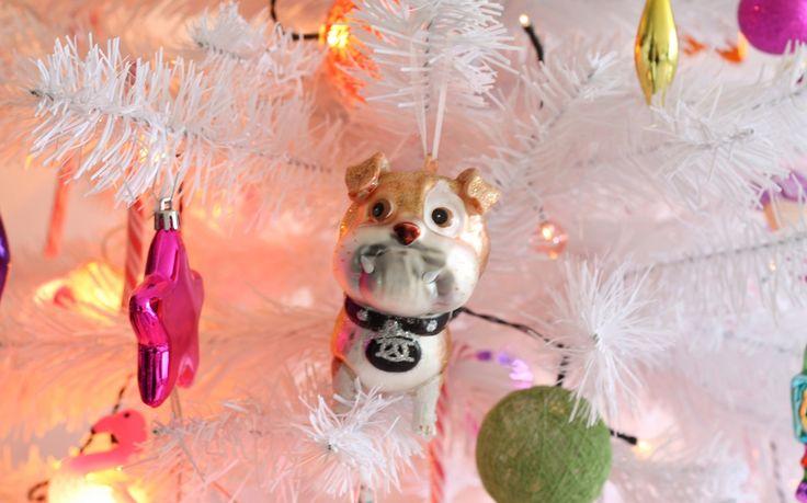 Bulldog kersthanger #christmas