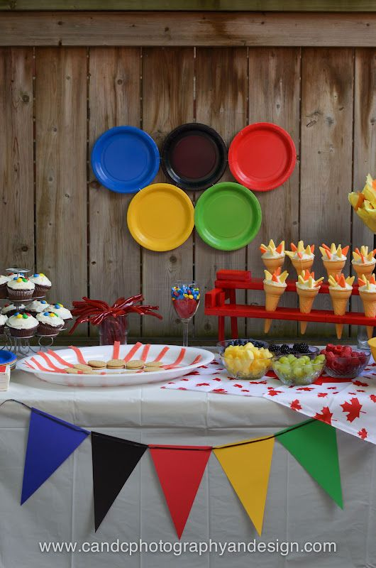 something to smile about...: olympic party - details