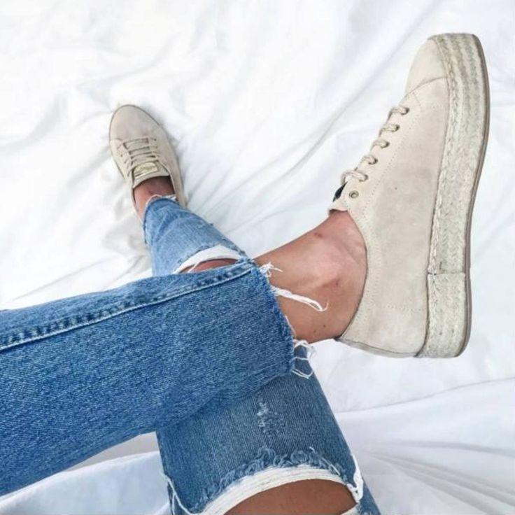 Espadrille sneakers #sarawears Sydney (via: @sarawears) #SanteGirls (SKU-91031) Available in stores & online: www.santeshoes.com
