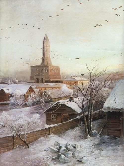 Alexey Savrasov:  Sukharev Tower in Moscow (1872)