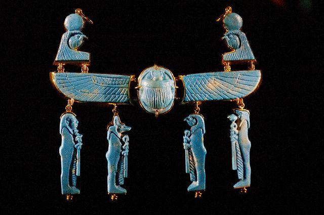 Ancient Egyptian jewellery at MONA by mnrolvr, via Flickr