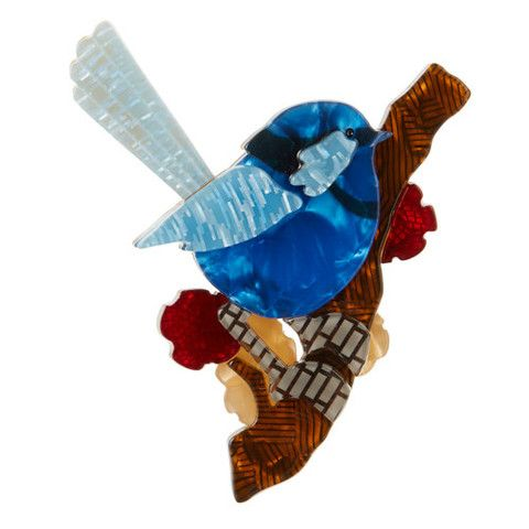Erstwilder Limited Edition Phoebe the Fairy Wren Brooch, $34.95 (AUD)