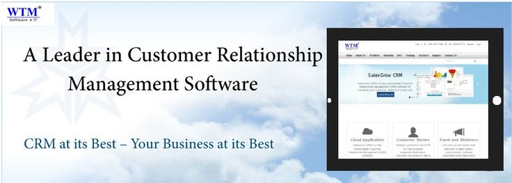 Cloud-based Business Software for Growing Companies. the most user friendly & affordable WTM SalesGrow #crm software. Free for 10 user Forever. http://wtmit.com/crm
