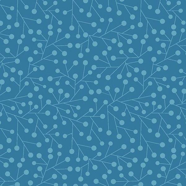Patchworkstoff-What hoo? blau-Basic blau von Der Stoffstand   auf DaWanda.com