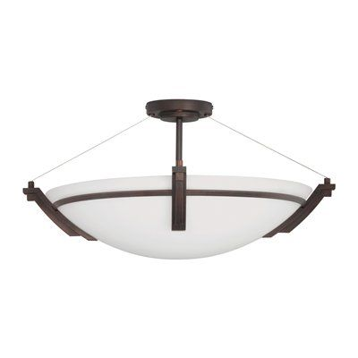 Kendal Lighting FFP07POB-04 Portobello Semi Flush Mount Ceiling Light