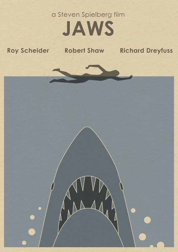 JAWS Limited Edition Movie Print  Shark Week by MonsterGallery