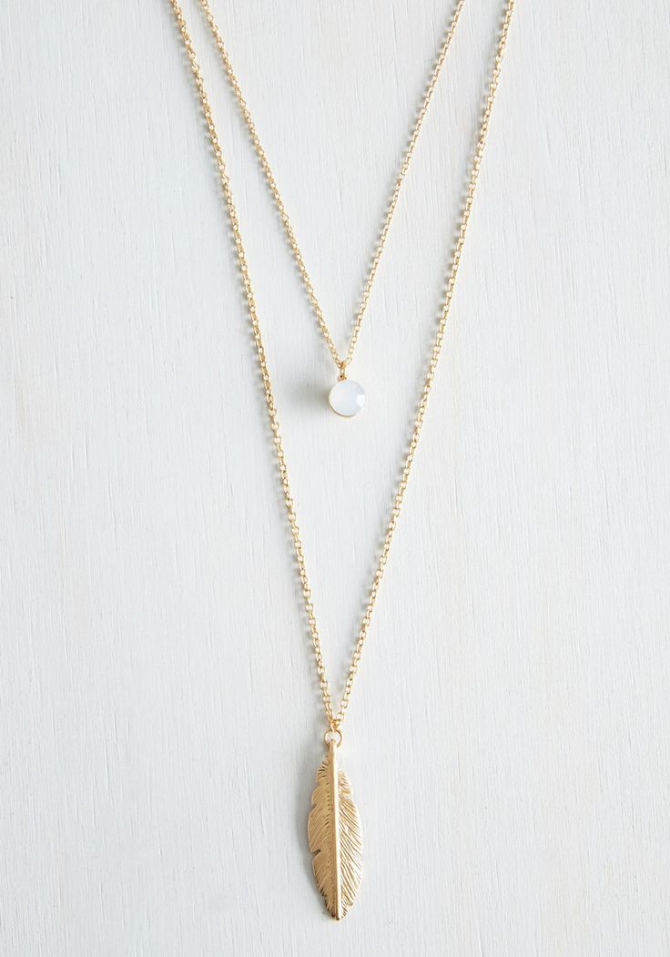 The Sooner the Feather Necklace. Waste no time before choosing this layered  necklace to complete your ladylike look!