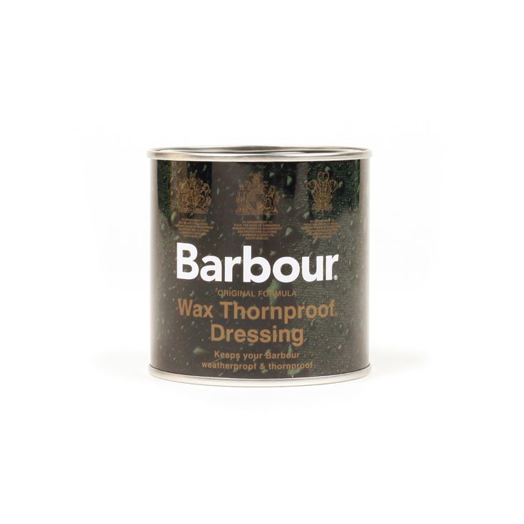 Barbour Wax Thornproof Dressing: Keep your Barbour pieces going and going and goind with the Barbour Wax Thornproof Dressing. This wax rejuvenates and protects your garments, essentially elongating the lifetime of your Barbour garments. A very good investment to get the most out of your Barbour goods.