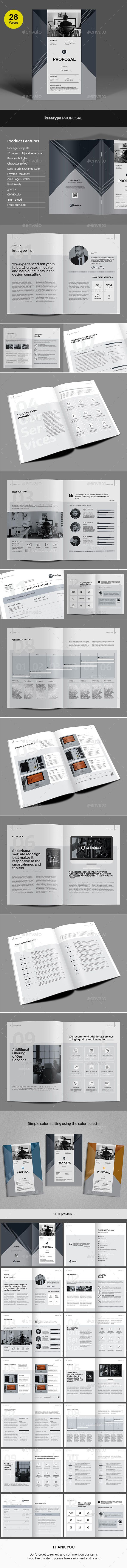 Kreatype Business Proposal Template InDesign INDD Download
