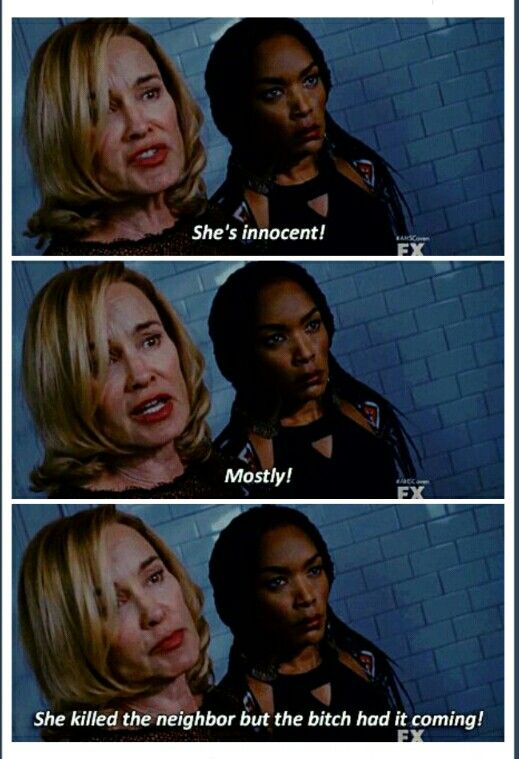 American Horror Story Coven-Don't look at me. I'm never over Angela Bassett. Never.