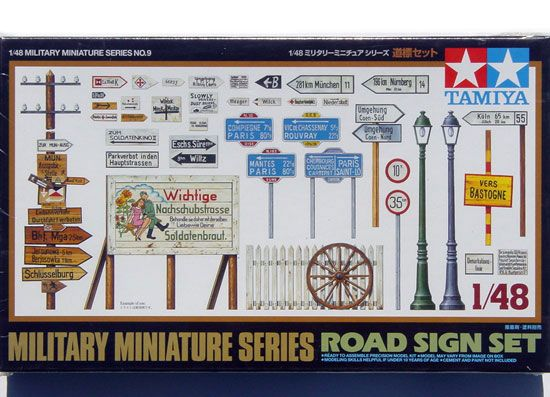 Maquette Tamiya 32509 MMV Sign Board Set 1:48
