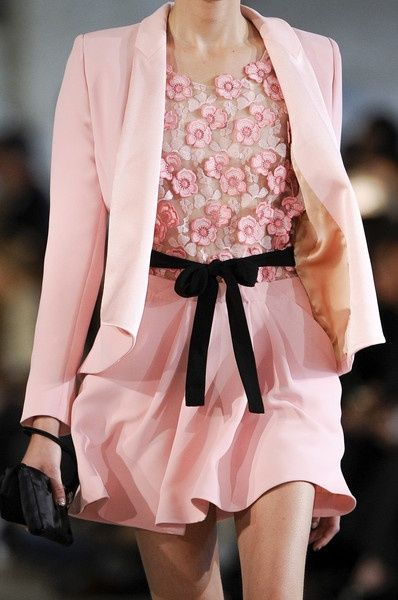 Pink Dress with petal top and matching Jacket and dark chocolate waist tie Belt make this attire perfect to welcome in warm weather