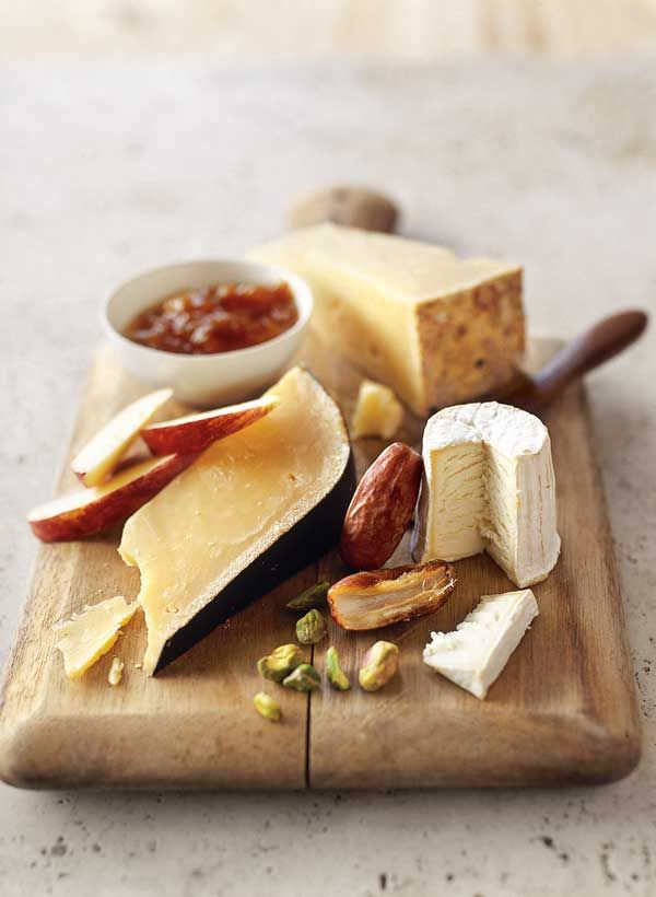 We have several gourmet cheeses, nuts, and preserves to choose from at Hickory Farms. Serve them on a rustic cutting board or in any of the beautiful baskets our gifts arrive in.
