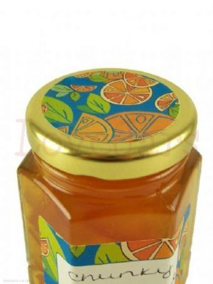Mixed Citrus 40mm Lid Topper to coordinate with the write-on label