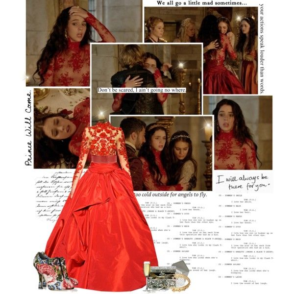 Reign episode 7 red dress magic
