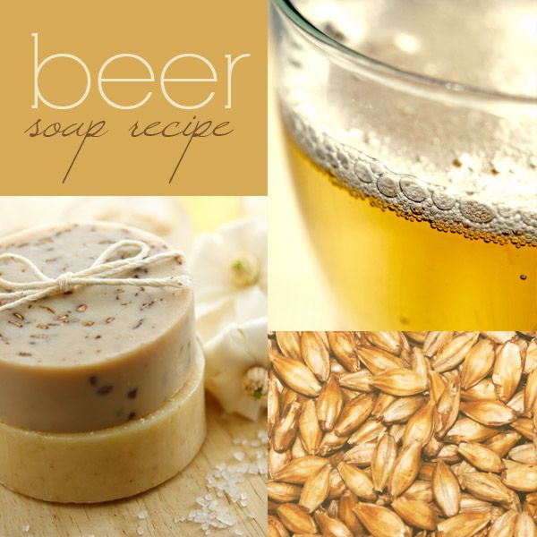 Beer soap recipe (cold process). Very manly soap. =)