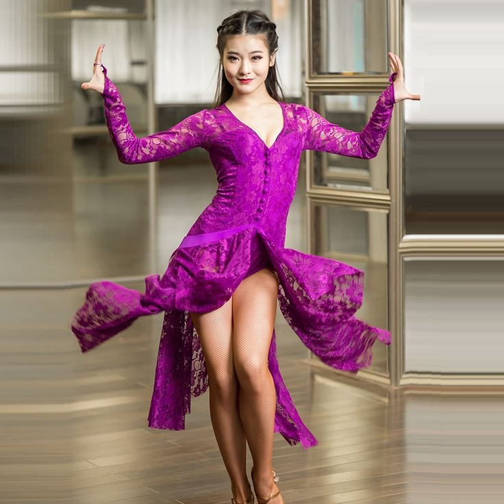 Cheap latin dress, Buy Quality dresses for dancing directly from China costumes for dance Suppliers: lace purple lace latin dresses for dancing latin dance dress women modern dance costumes for dance salsa rumba