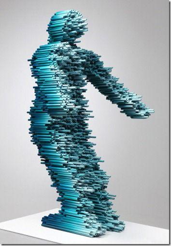 esculturas corridas vento