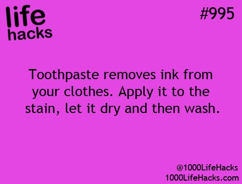 Ink removal hack.  Whitening toothpaste can bleach clothing... but regular works