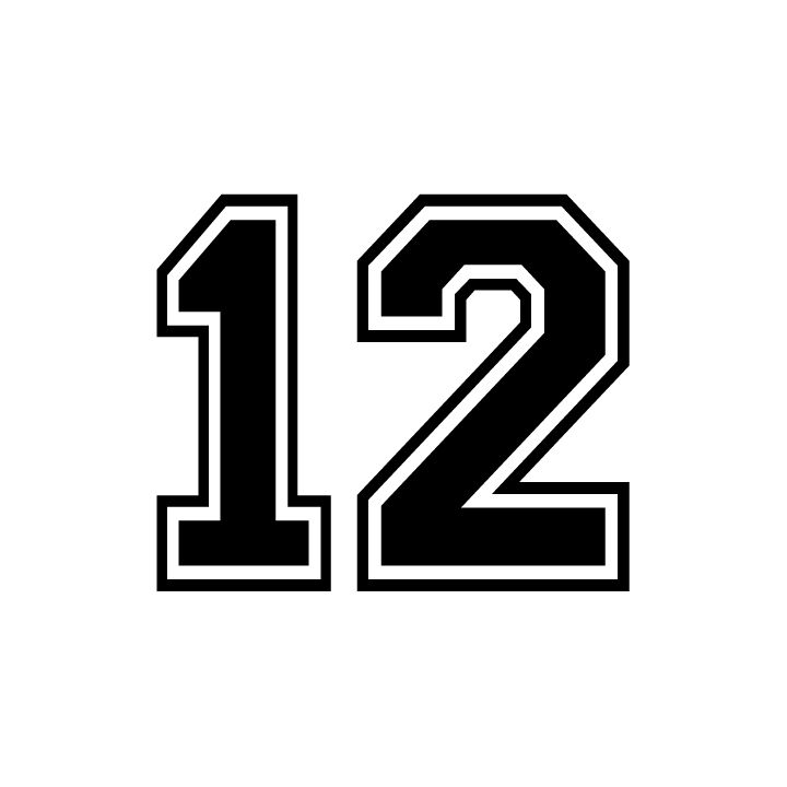 Be a part of the 12th man with the 12 stickers printed in seattle at motion