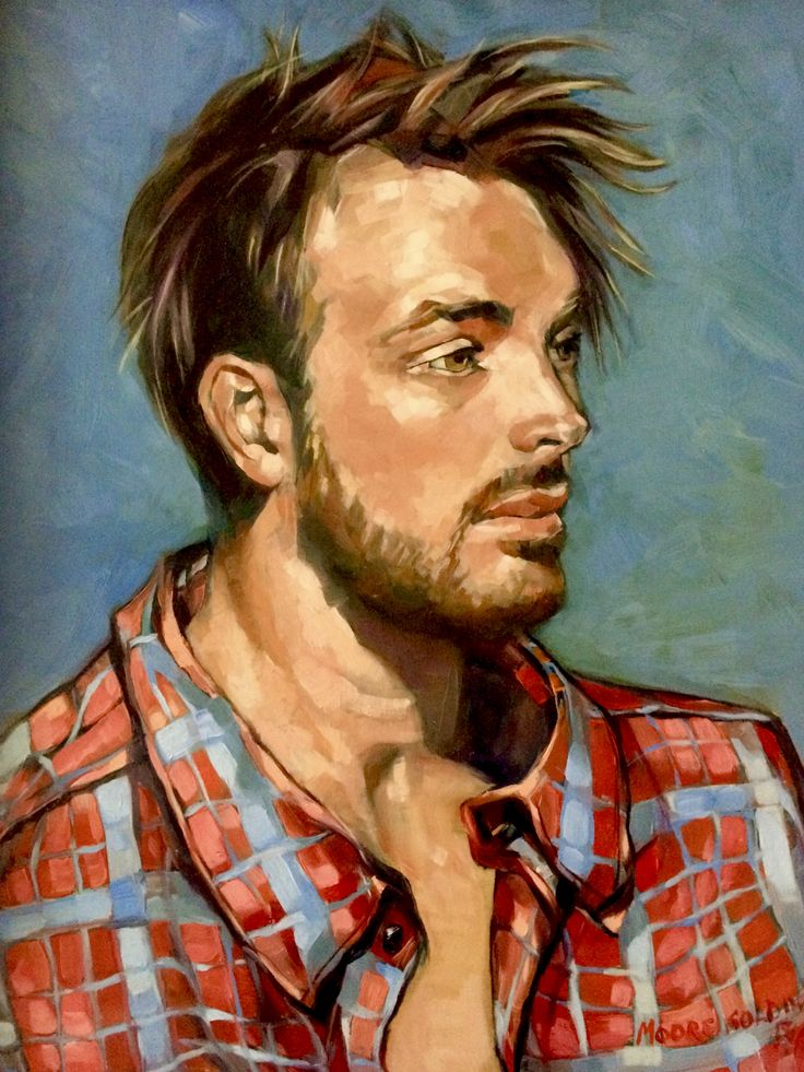 """'A Portrait of Jack'. 16x20"""". Oil on composition board framed 2016. Painted from life. This painting won a Highly Commended at the annual Portrait Exhibition 2017 at The Victorian Artists Society. FOR SALE."""