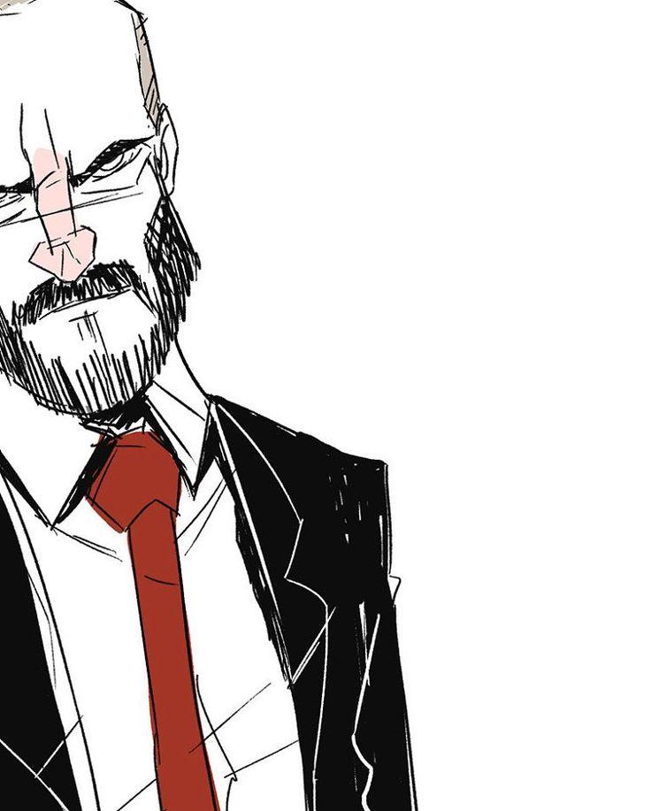 | Ulf | 2O16.  Hope ya'll Enjoy!! #digital #sketch #drawing #cartoon #fun #art #instaart #character #characterdesign #overkill #game #payday #payday2 #wolf #ulfanderson #ulf #suitsandties #beard #technician