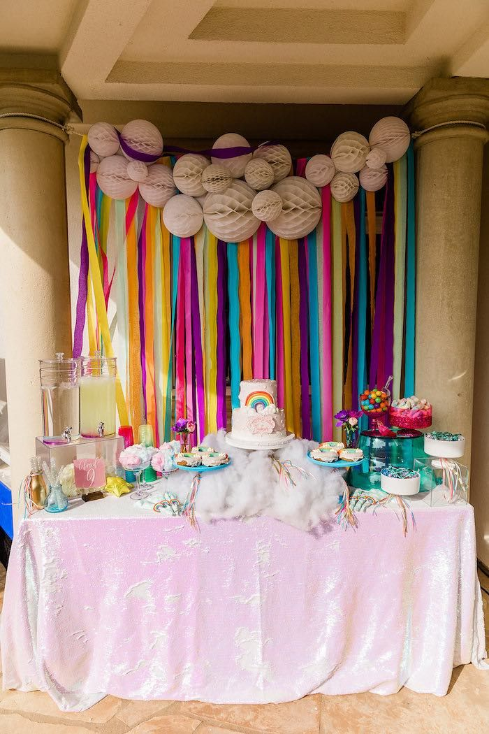 Quot Cloud Nine Quot Rainbow 9th Birthday Party Girls Birthday