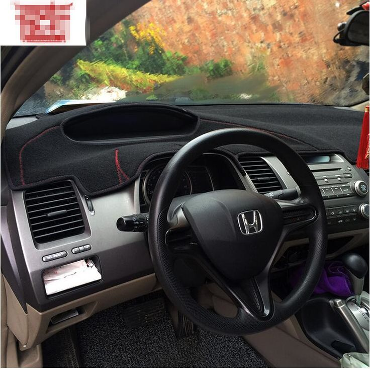 Dashmats Instrument Car Styling Accessories Dashboard Covers Case For Honda Civic Si Type R 2006 2011 2008 Honda Civic Si Honda Civic Honda Civic Accessories