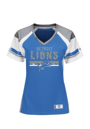 Detroit Lions Womens Draft Me Fashion Football Jersey - Blue