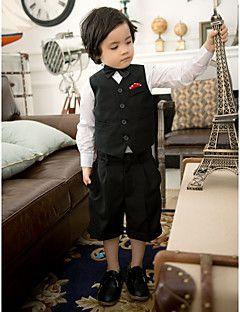 Ring Bearer Tuxedo Shorts Black Tea-length Black Tuxedo Pant... – USD $ 9.99