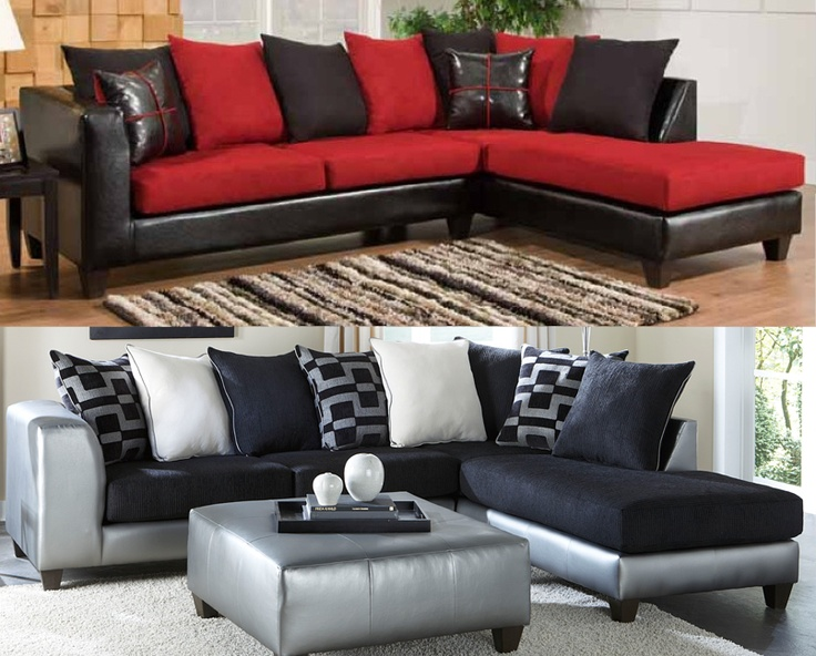 1000 ideas about black sectional on pinterest sectional sofas leather sectional sofas and for Red and black leather living room furniture