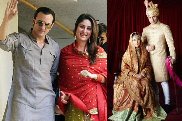 "On the sets of the movie ""Tashan"", Kareena Kapoor and Saif Ali Khan fell in love with each other. On October 16, 2012 they got married. 