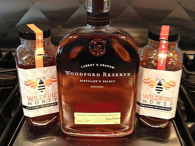 WildFire Honey & Woodford Reserve marinade... perfect on grilled pork chops.  Yum!