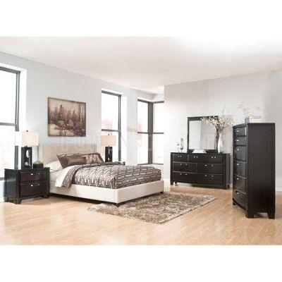 Best Emory Bedroom Set W Light Beige Upholstered Bed With 400 x 300