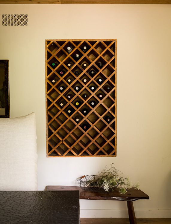 Built-in wine rack (recessed in dining room wall) Lauren Liess | Pure Style Home
