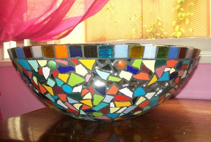 Bachas Para Baño Mosaiquismo:Bacha de baño decorada en mosaico y venecitas