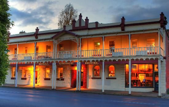 the royal george in beautiful kyneton- the top floor is ours for dancing, eating and drinking all of the champagne. also- the balcony is our rainy day contingency plan!