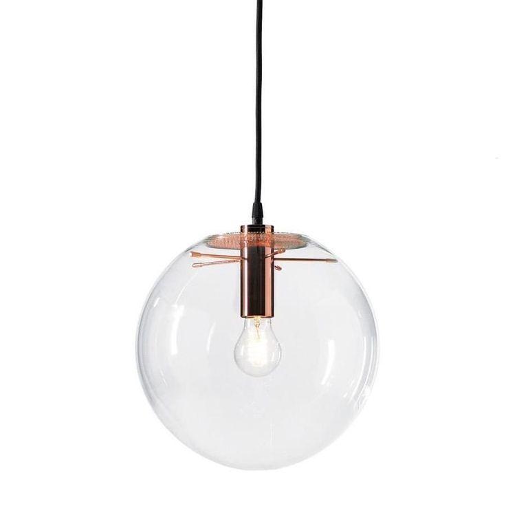 Selene Pendant Glass Light by Sandra Lidner in Copper | GoLights.com.au