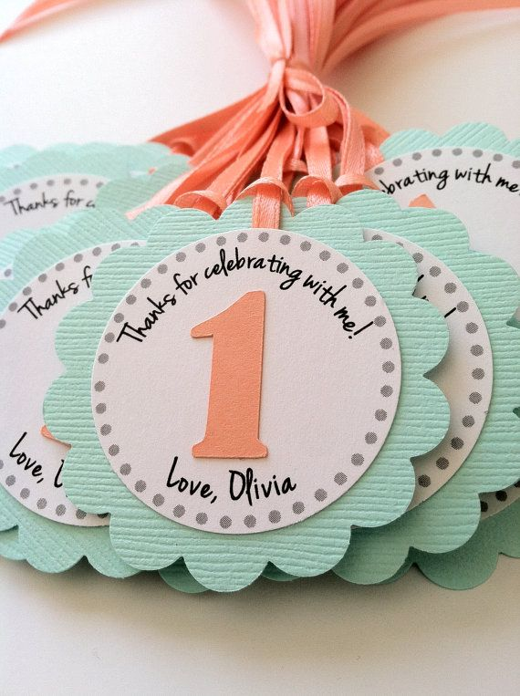 Cute Tags For Party Favors Or Cupcake Toppers